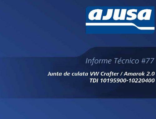 Junta de culata VW Crafter / Amarok 2.0